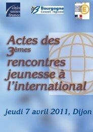 ACTES des 3èmes Rencontres nationales de la Jeunesse à l ...