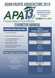 ASIAN PACIFIC AQUACULTURE 2013 exhibitor manual - MarEvent