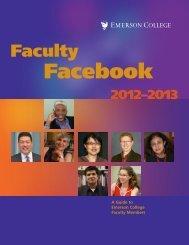 Faculty Facebook - Emerson College