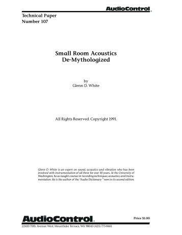 Small Room Acoustics De-Mythologized - Eporia