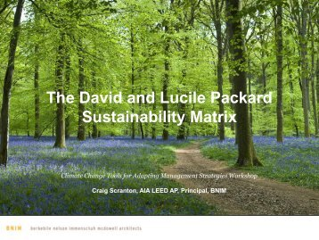 The David and Lucile Packard Sustainability Matrix - Dodworkshops ...