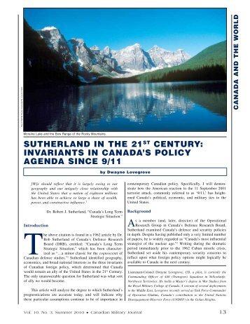 SUTHERLAND IN THE 21ST CENTURY: INVARIANTS IN ...
