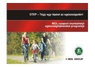 STEP – Tégy egy lépést az egészségedért MOL-csoport munkahelyi ...