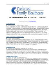 Page   1 JOB POSTINGS FOR THE WEEK OF 11/14/2011 - 11/20 ...