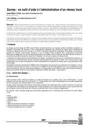 Survey : un outil d'aide à l'administration d'un réseau local