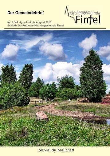 Gemeindebrief Juni, Juli, August 2013.pdf - Ev.-luth. St.-Antonius ...