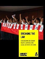 BREAKING BREAKING THE LAW - Amnesty International
