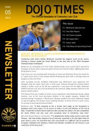 Download the Dojo Times Issue 05 here - Camberley Judo Club