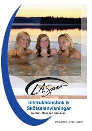 L.A. SPAS Tropical serie instruktionsbok 2007 - Neptun