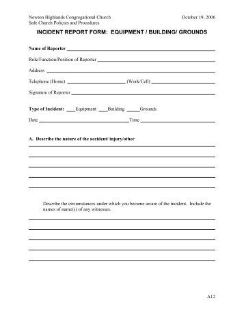 Users' Medical Device Incident Report Form