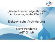 Elektronische Archivierung Bernt Penderak soIT GmbH