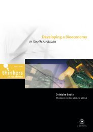 Developing a Bioeconomy - Adelaide Thinkers in Residence - SA ...