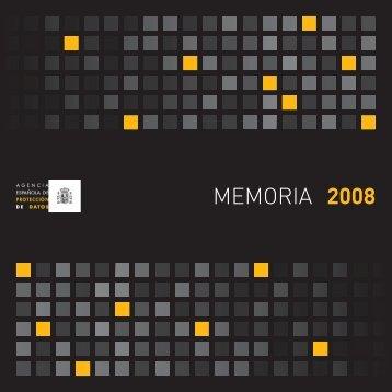 MEMORIA 2008 - Agencia Española de Protección de Datos