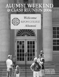 Alumni Weekend 2006: A Photo Retrospective - Ripon College
