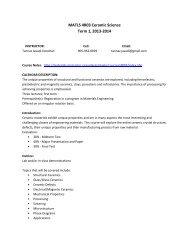 MATLS 4R03 Ceramic Science Term 1, 2013-2014 - Course Notes