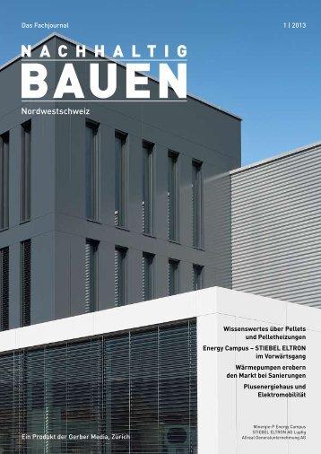 Nachhaltig Bauen Nordwestsschweiz 1/2013 - Gerber Media