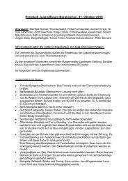Protokoll Jugendforum Bergkirchen, 21. Oktober 2010