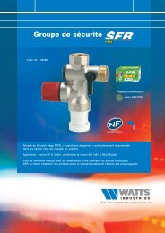 GRouPE dE SéCuRiTé SFR PTFE - Watts Industries