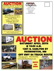 AUCTION - United Auctioneers