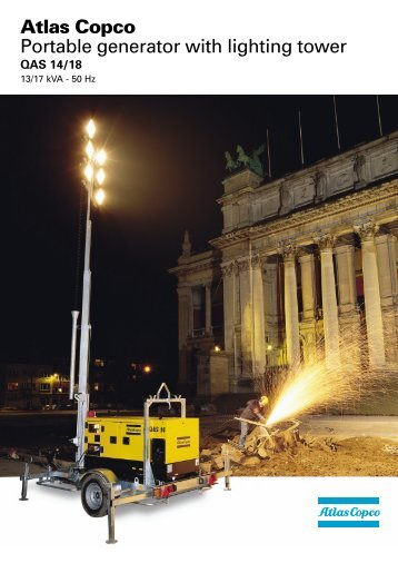 Atlas Copco Portable generator with lighting tower