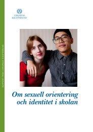 Om sexuell orientering och identitet i skolan - Lärarnas Riksförbund