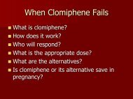 When Clomiphene Fails