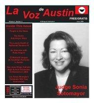 La Voz de Austin June 2009 internet - La Voz Newspapers