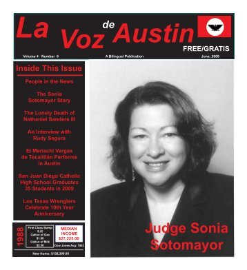 La Voz de Austin June 2009 internet - La Voz Newspapers