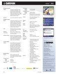 Nuvi 360 Specs - Garmin - Page 2