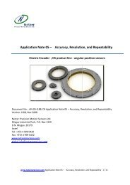 AN-05;Accuracy, Resolution, and Repeatability - Netzer