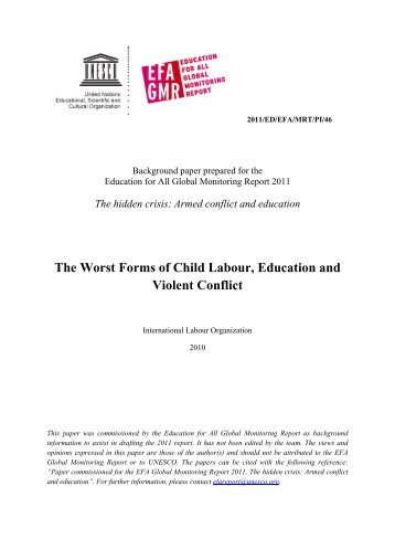 The Worst forms of child labour, education and ... - unesdoc - Unesco