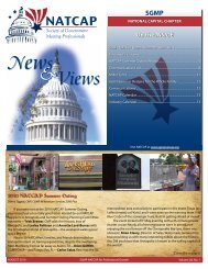 Issue 1 - Society of Government Meeting Professionals NATCAP ...