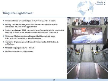 Mediadaten KingSize Lightboxes Arrivals, PDF - Media Frankfurt