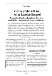 Vill vi jobba till 65 – eller kanske längre ... - Lunds universitet