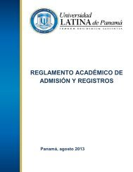 Reglamento Académico y de Admisiones - Universidad Latina de ...