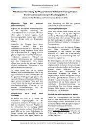 Aktuelles zur Umsetzung der Wasserrahmenrichtlinie in Schleswig ...