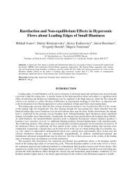 Rarefaction and Non-equilibrium Effects in Hypersonic Flows about ...