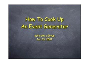 Event Generator.pdf - KEK