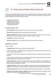 10 Fichas para el análisis Urbano-Comercial - Actualidad PATECO
