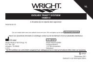 evolve® triad™ systeem 146884-2 - Wright Medical Technology, Inc.