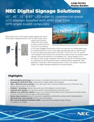 NEC Digital Signage Solutions - The Chariot Group, Inc