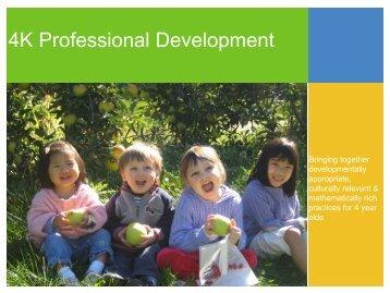 4K Professional Development