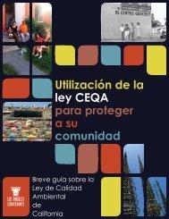 Utilización de la ley CEQA para proteger a su comunidad