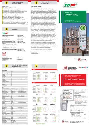 Frankfurt - bei der Stadtverkehrsgesellschaft mbH Frankfurt(Oder)