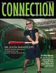 Dr. Justin Barnett OD In this issue: