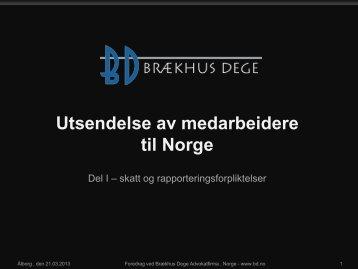 Utsendelse av medarbeidere til Norge - Innovation X