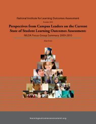 Perspectives - National Institute for Learning Outcomes Assessment