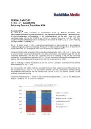 TERTIALRAPPORT 1. mai - 31. august 2012 Asker og ... - Budstikka