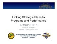 Linking Strategic Plans to Programs and Performance - PDI 2012