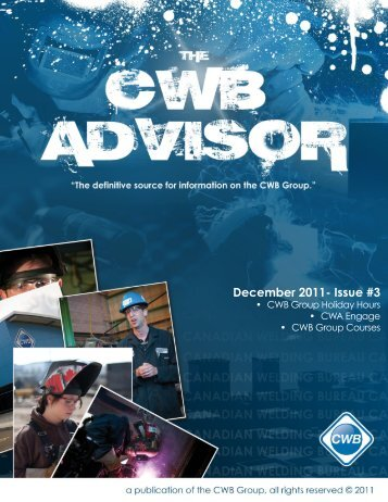 December 2011- Issue #3 - CWB Group